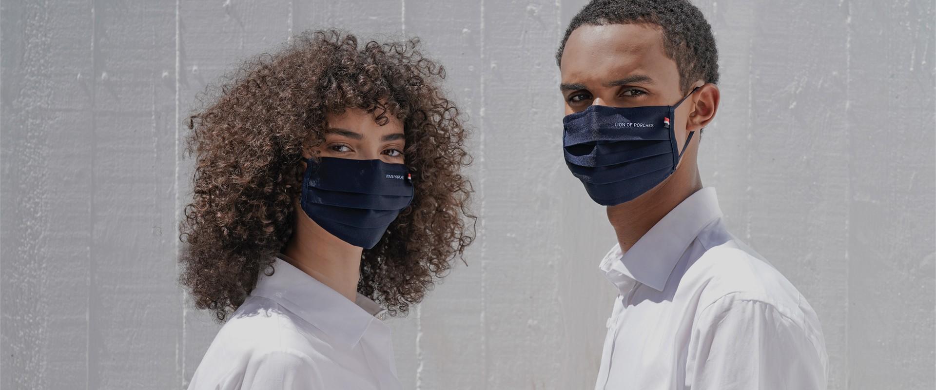 La máscara reutilizable de uso social Lion Of Porches es reutilizable hasta para 25 lavados. Mantengamos a todos a salvo.