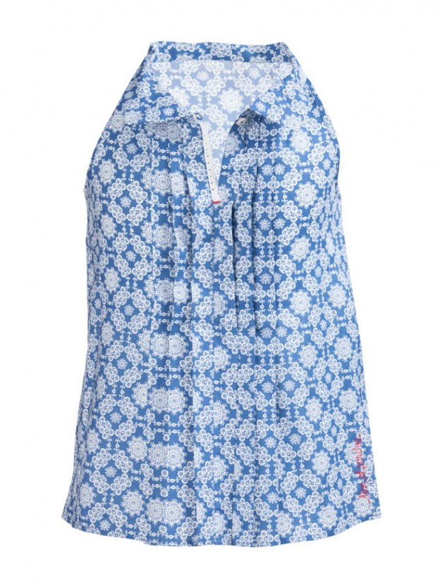 Printed sleeveless tunic