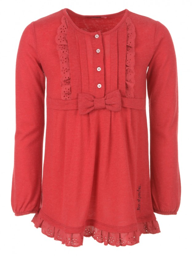 Tunic with ruffle