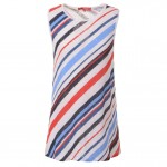 Striped sleeveless t-shirt