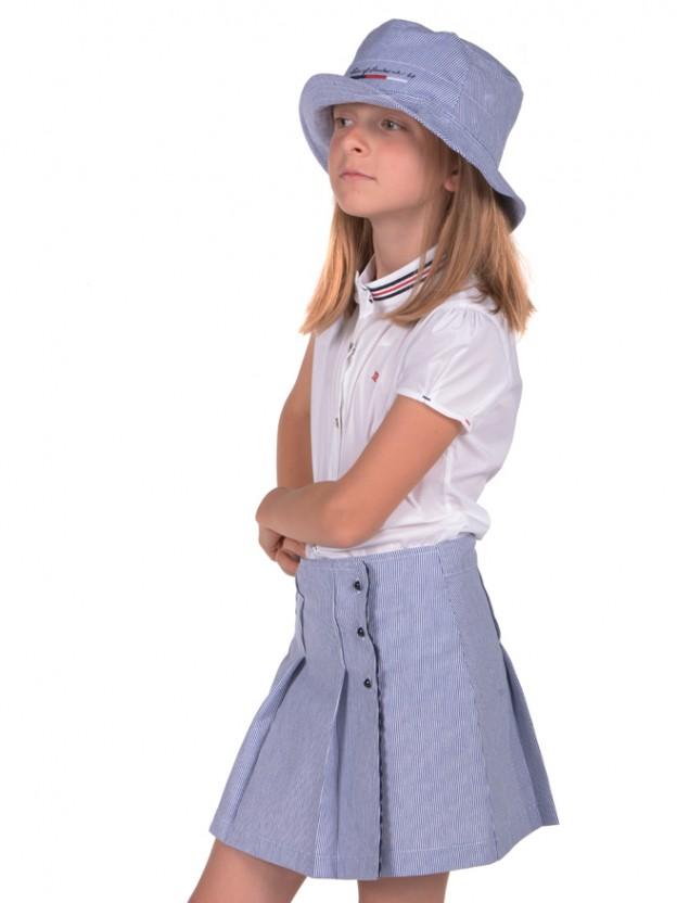 Striped paneled skirt