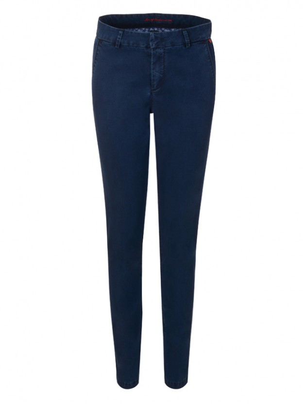 Denim chino trousers