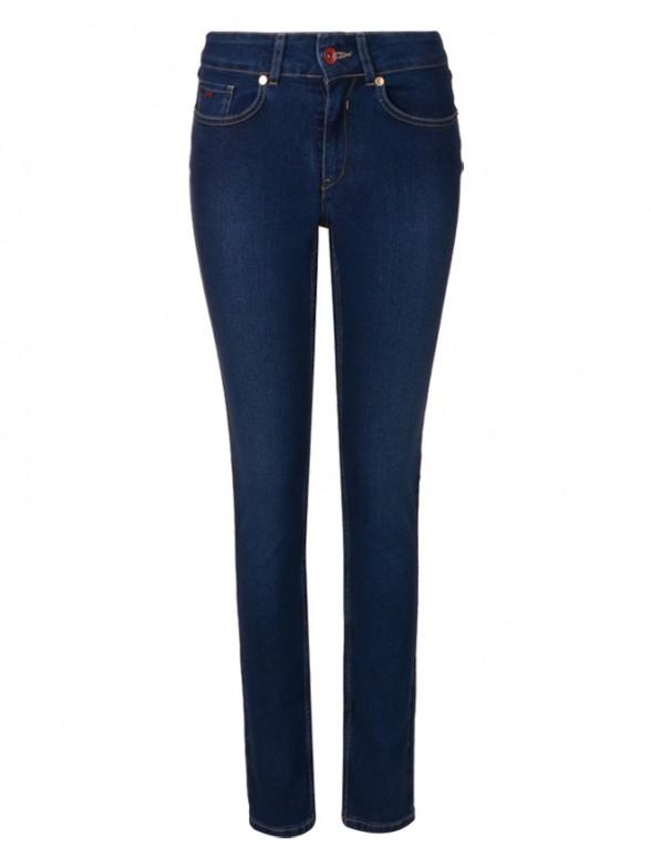 Denim jeans with flower