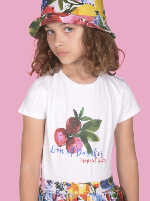 T-shirt tropical kids