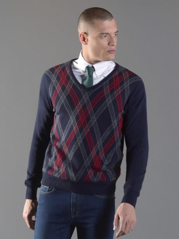 Pullover losangos
