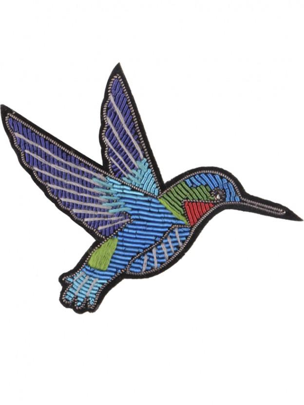 Multicoloured bird brooch