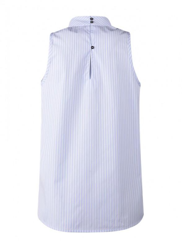 Camisa sem Manga Gola Alta