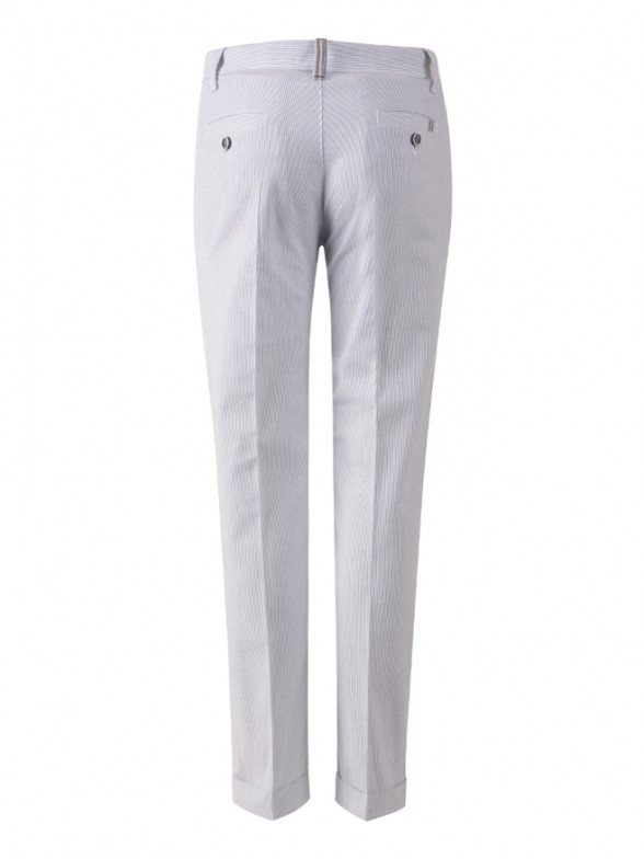 Striped chino trousers