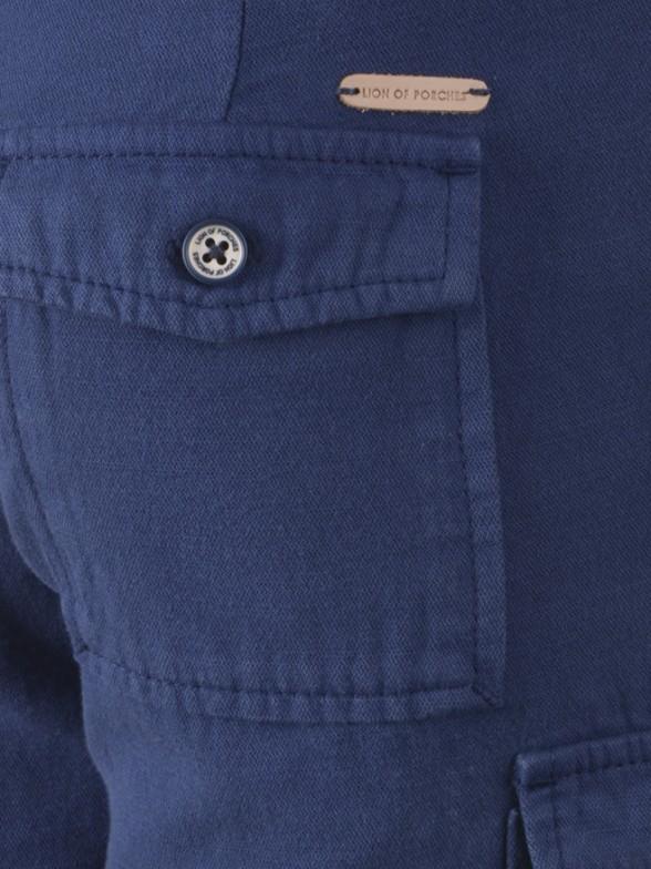 Denim chino shorts