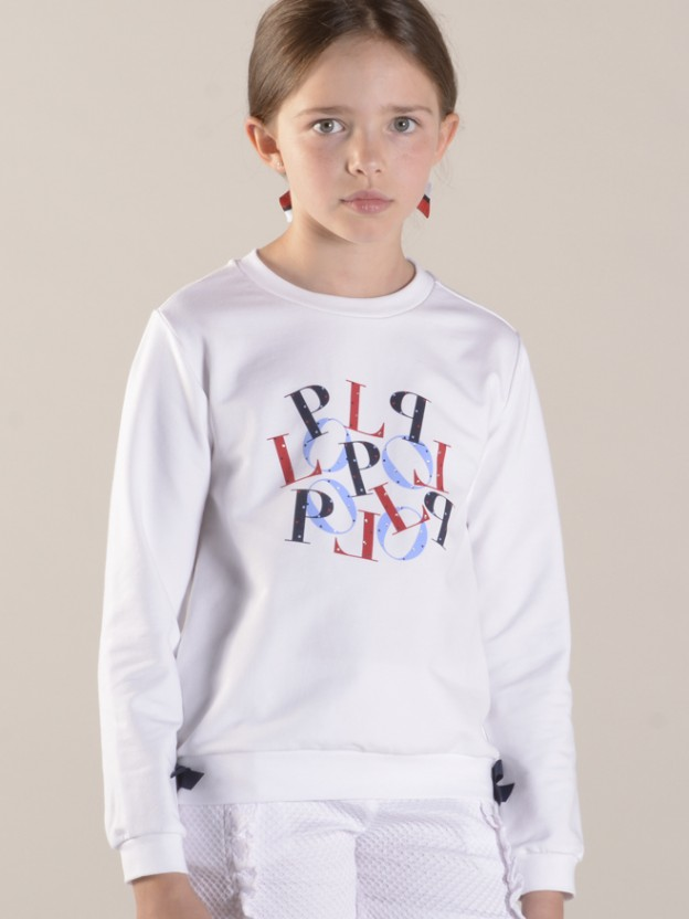 Sweatshirt com estampado lop