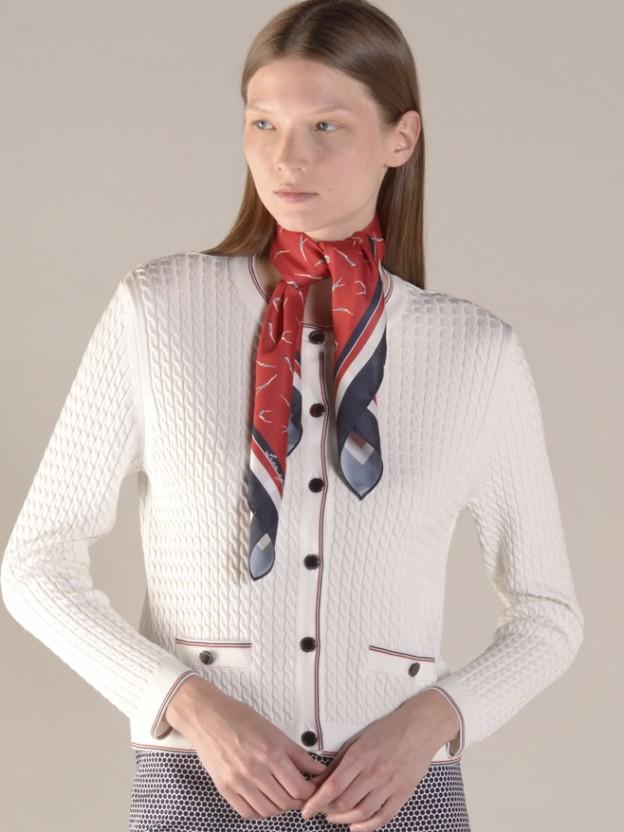 Braided knit jacket