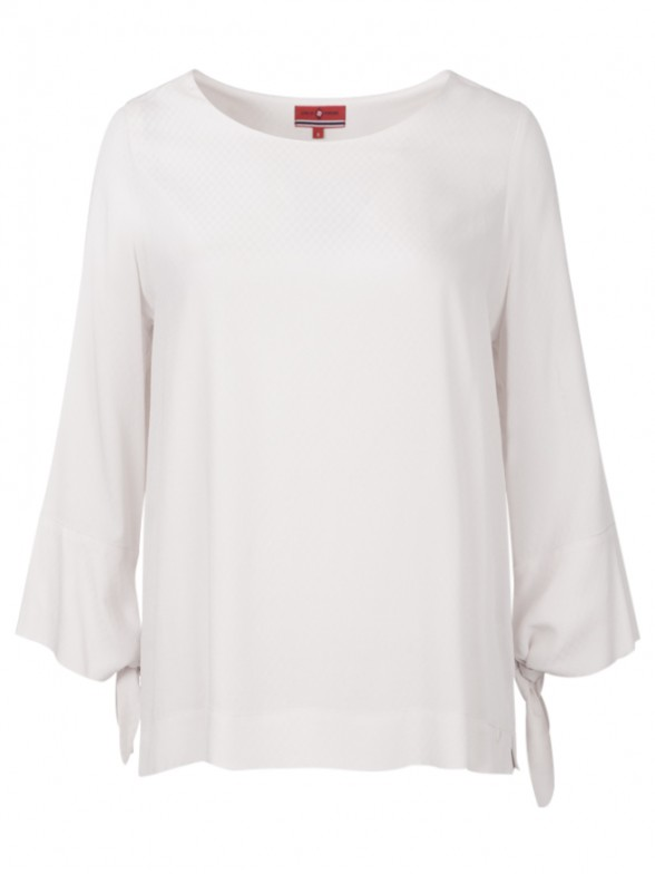 Ribbon tie sleeves blouse