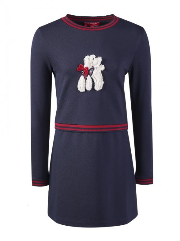 Vestido manga comprida