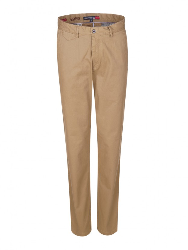 Organic cotton chino trousers