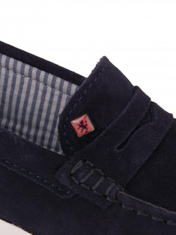 Sapato náutico em pele