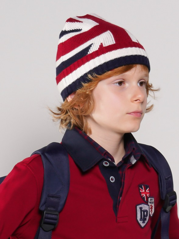 Uk flag knit cap