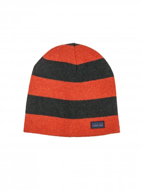 Striped knit cap