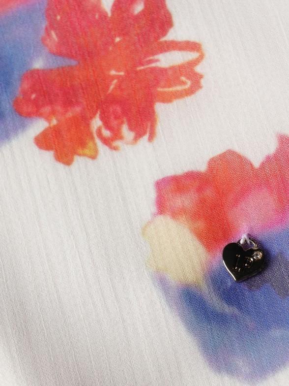 Blusa com Padrão Floral