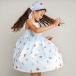 Seashell print dress