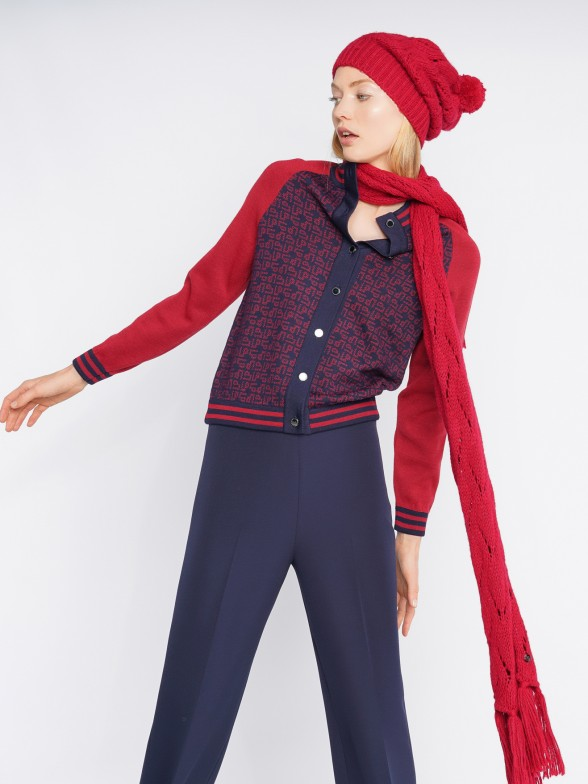 Cárdigan en lana merino