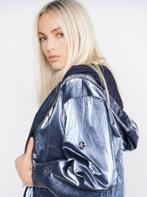 Shimmering metallic jacket