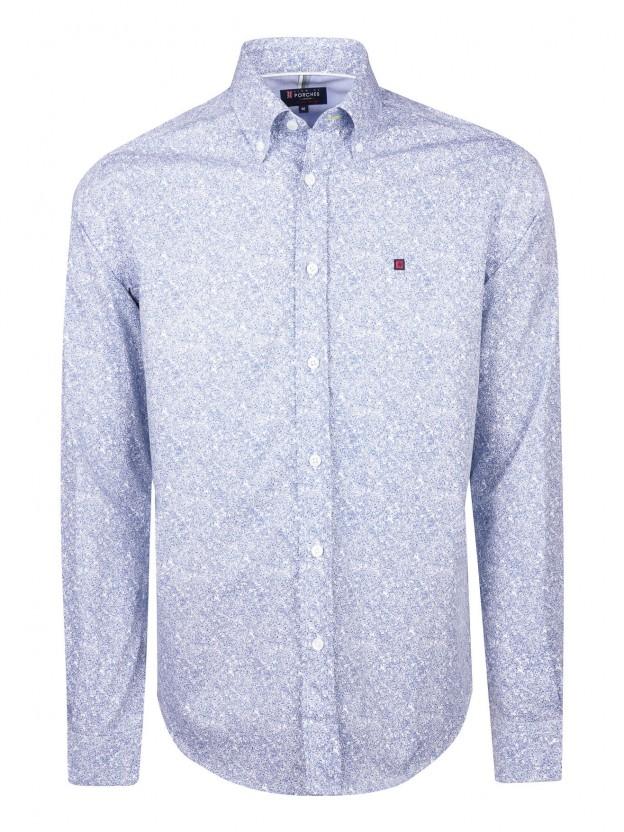Camisa com estampado bicolor