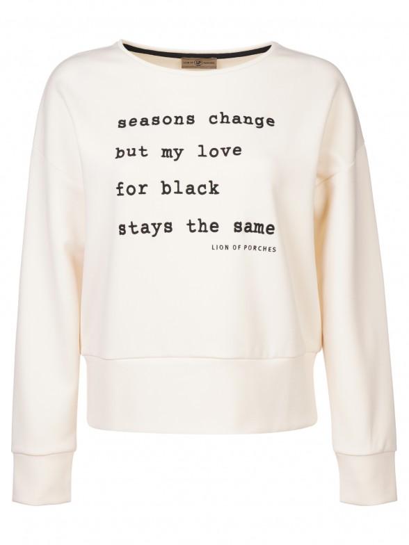Embroidered message sweatshirt