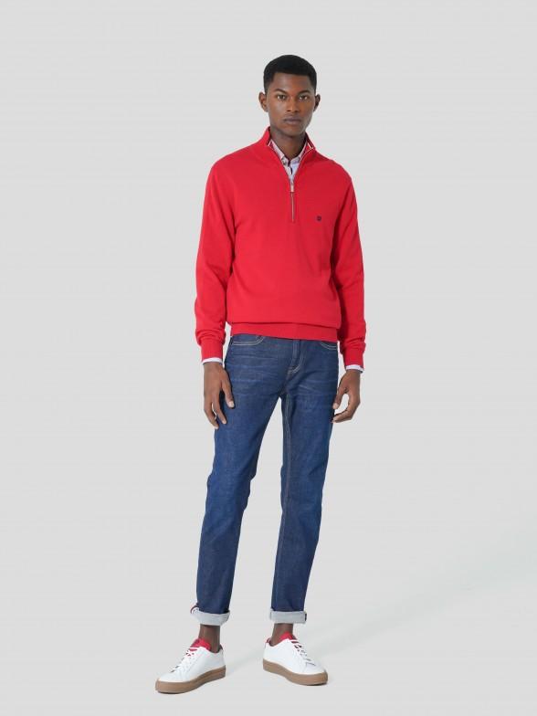 Zip Knitted Jumper