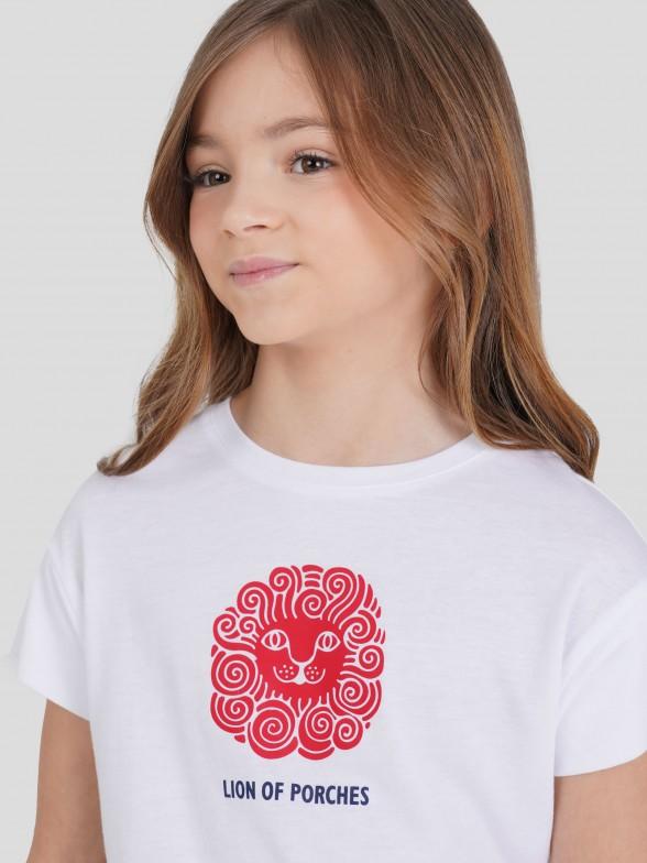 T-shirt com Estampado Leão