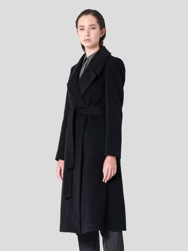 Coat with Tie Belt