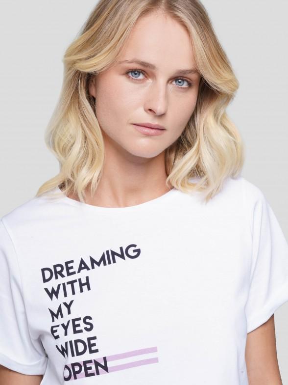 T-shirt com Mensagem Estampada