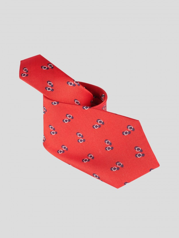 Gravata em seda com motivo flip-flops