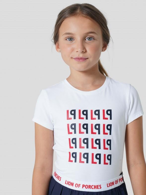 T-shirt Estampado Monogramas