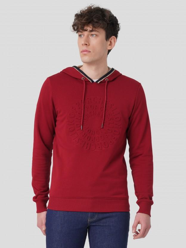Sweatshirt com estampado em relevo