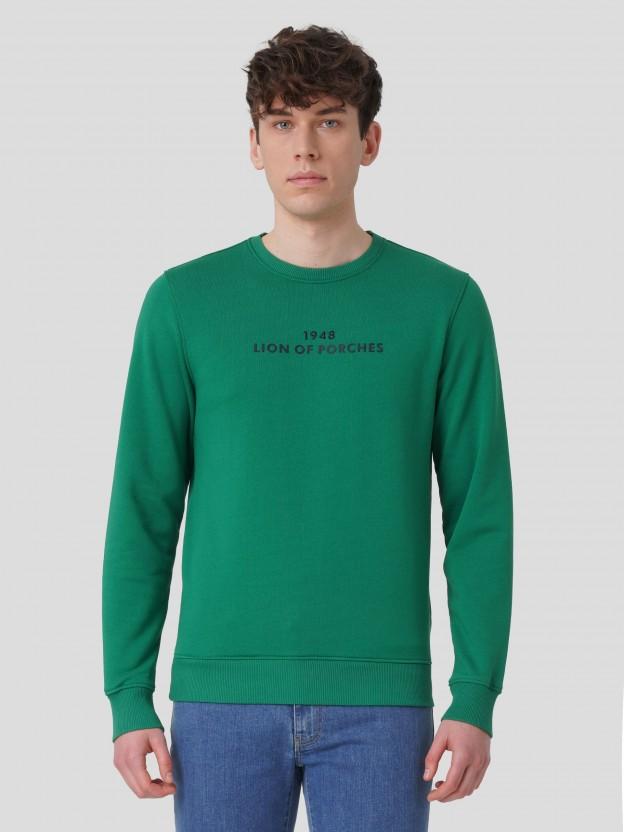 Sweatshirt com estampado e bordado