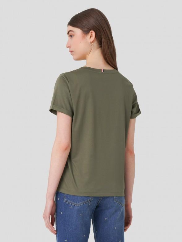 T-shirt Decote em V
