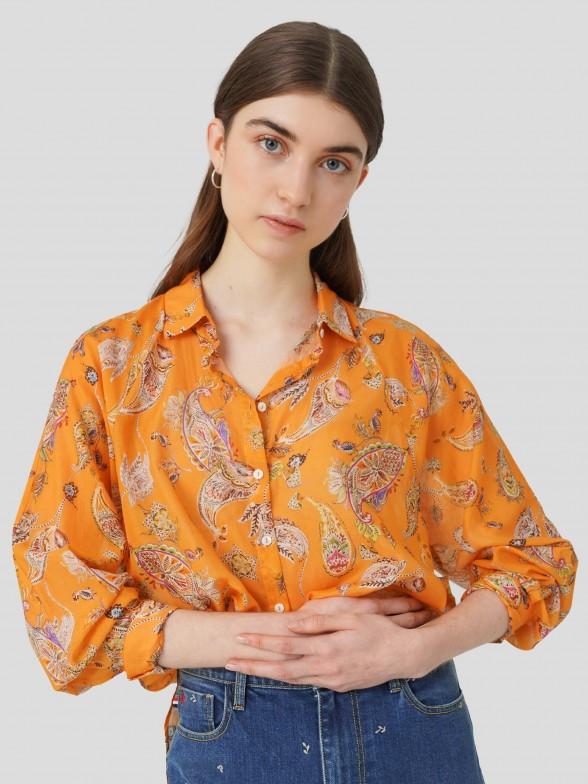 Camisa Estampado de Cornucópias