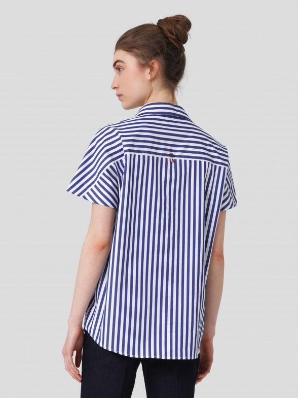 Camisa de Manga Curta Riscas