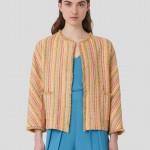 Casaco  em tweed colorido