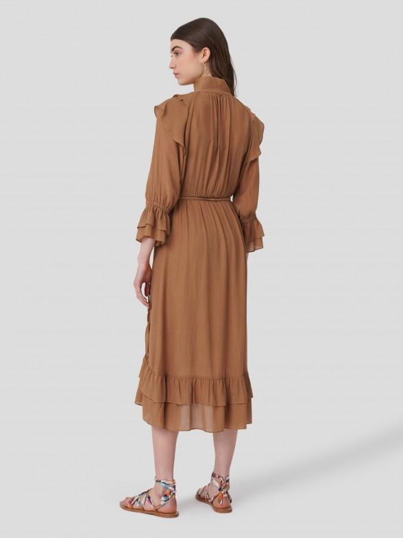 Vestido Maxi com Textura
