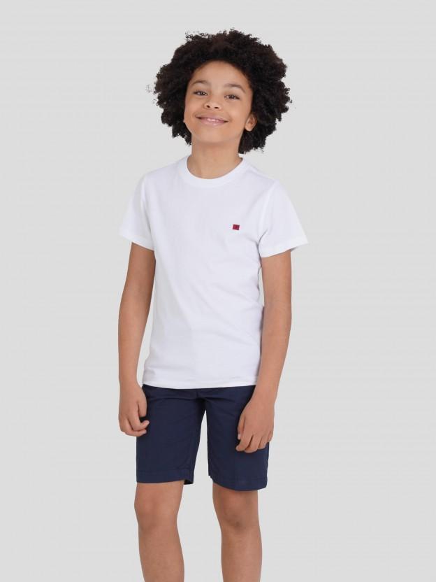 T-Shirt básica 100% algodão