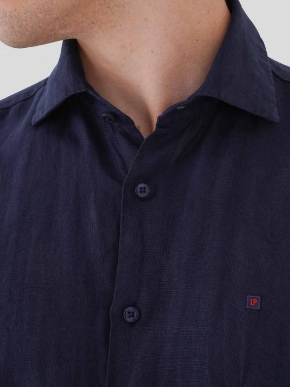 Camisa slim fit 100% linho
