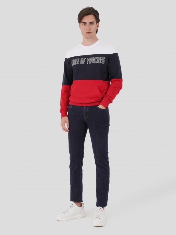 Sweatshirt tricolor