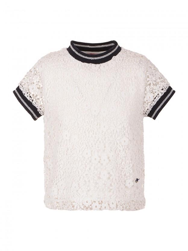 T-shirt Rendado Flores