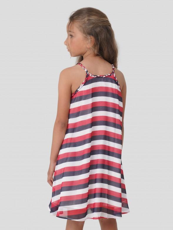 Vestido de Riscas Tricolores