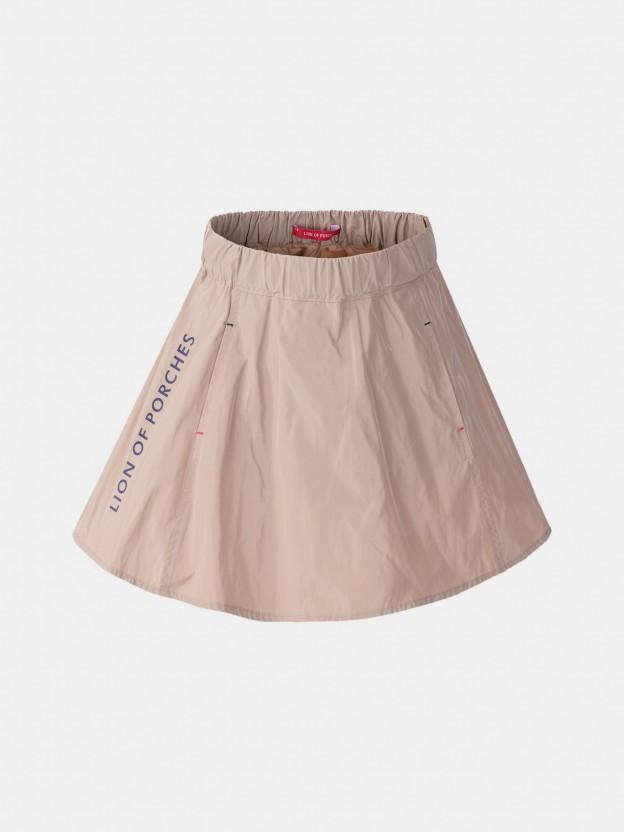 Ruffled technical skirt