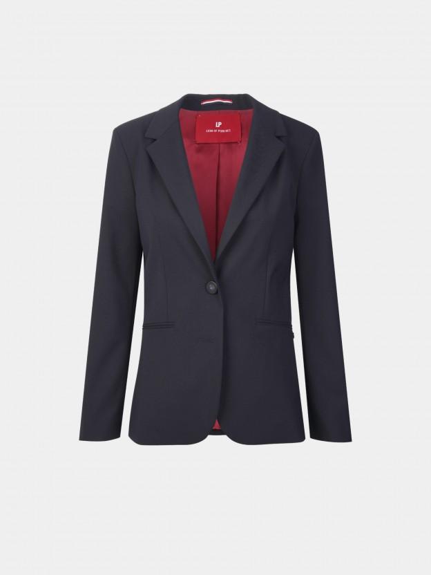Slim fit blazer with one button