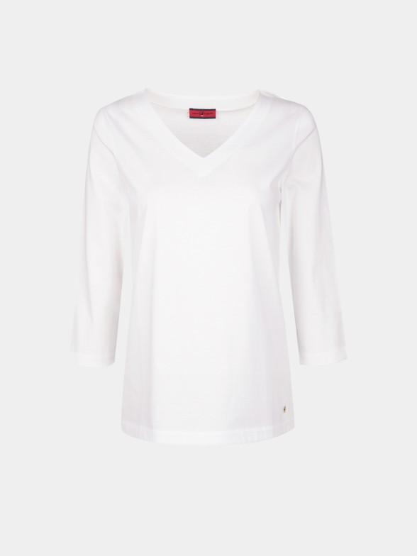 T-Shirt básica decote em V