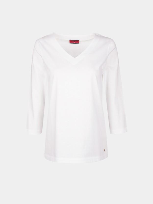 Camiseta básica con cuello de pico