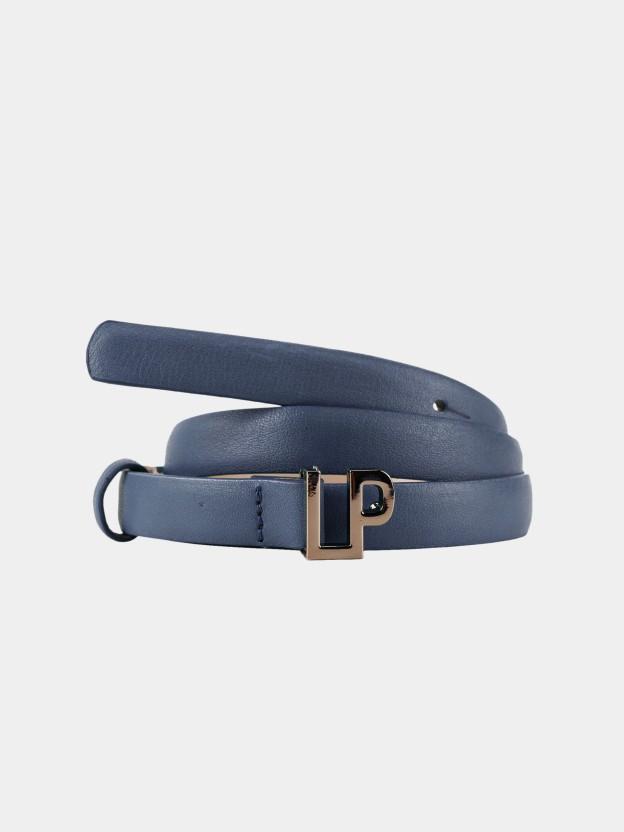 Cinturón fino con hebilla de monograma